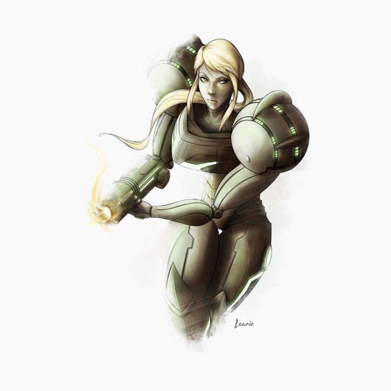 Samus - Battle Mode ON Women's T-Shirt by Laurie's Artist Shop
