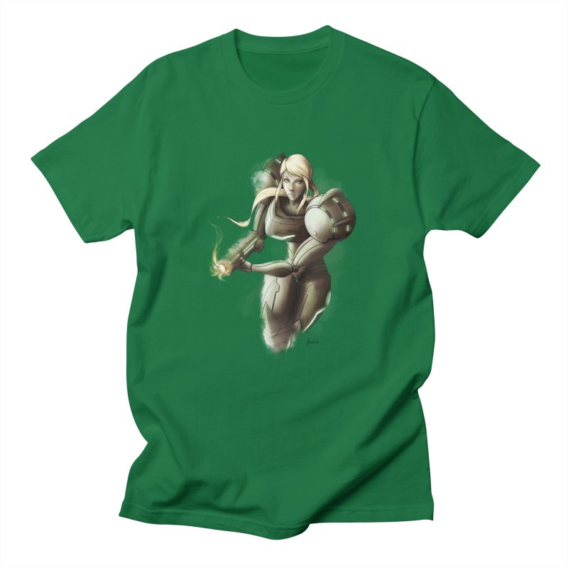 Samus - Battle Mode ON Men's T-Shirt by Laurie's Artist Shop
