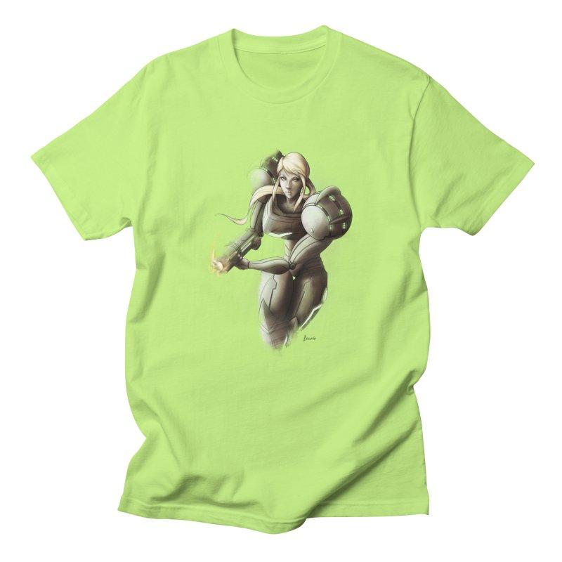 Samus - Battle Mode ON Men's Regular T-Shirt by Laurie's Artist Shop