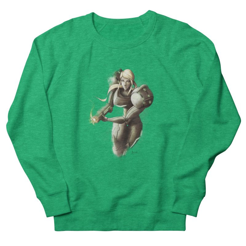 Samus - Battle Mode ON Men's Sweatshirt by Laurie's Artist Shop