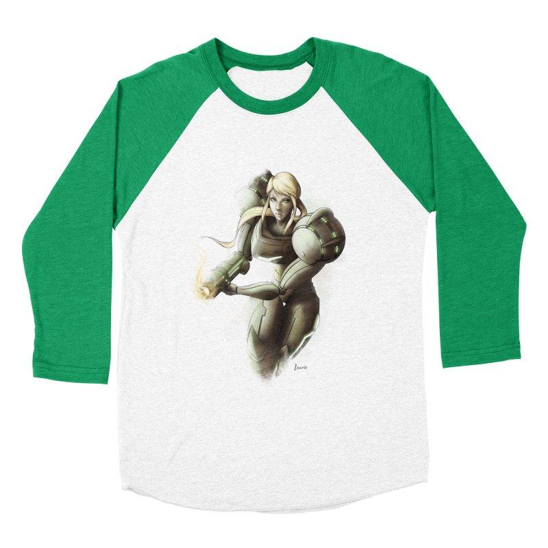 Samus - Battle Mode ON Men's Longsleeve T-Shirt by Laurie's Artist Shop