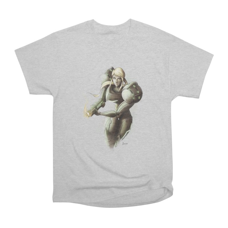 Samus - Battle Mode ON Women's Heavyweight Unisex T-Shirt by Laurie's Artist Shop