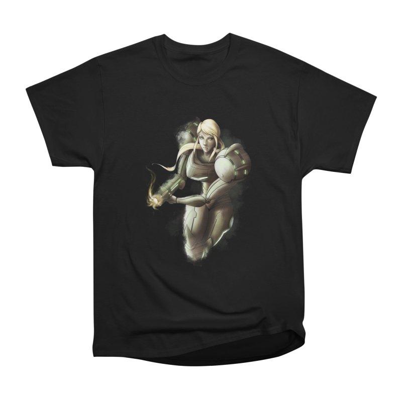 Samus - Battle Mode ON Men's Heavyweight T-Shirt by Laurie's Artist Shop