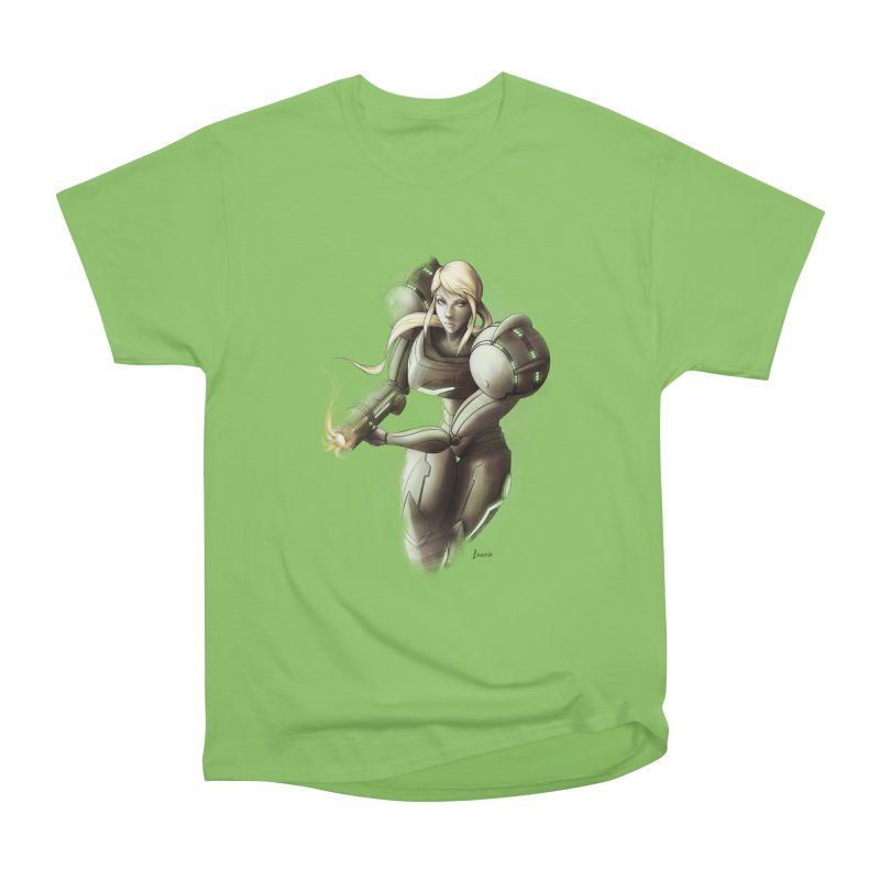 Samus - Battle Mode ON Women's Heavyweight Unisex T-Shirt by Laurie's Artist Shop