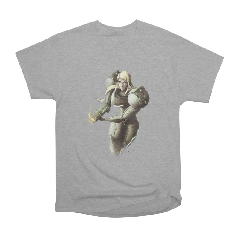 Samus - Battle Mode ON Men's Heavyweight T-Shirt by Laurie's Artist Shop