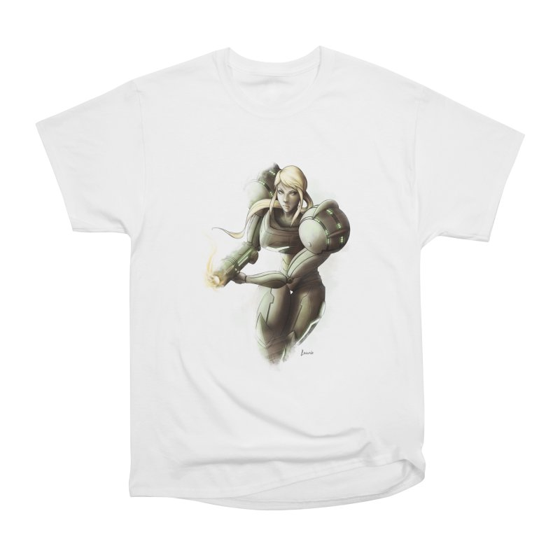 Samus - Battle Mode ON Women's Classic Unisex T-Shirt by Laurie's Artist Shop