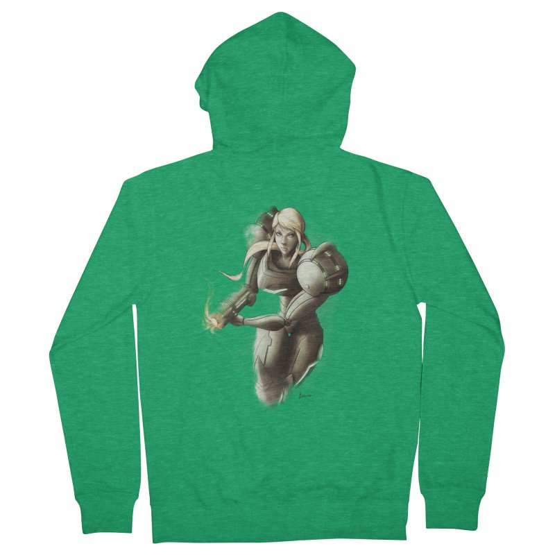 Samus - Battle Mode ON Women's French Terry Zip-Up Hoody by Laurie's Artist Shop