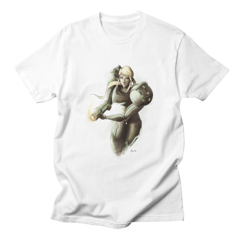 Samus - Battle Mode ON Men's T-Shirt by Laurie's Artist Shop