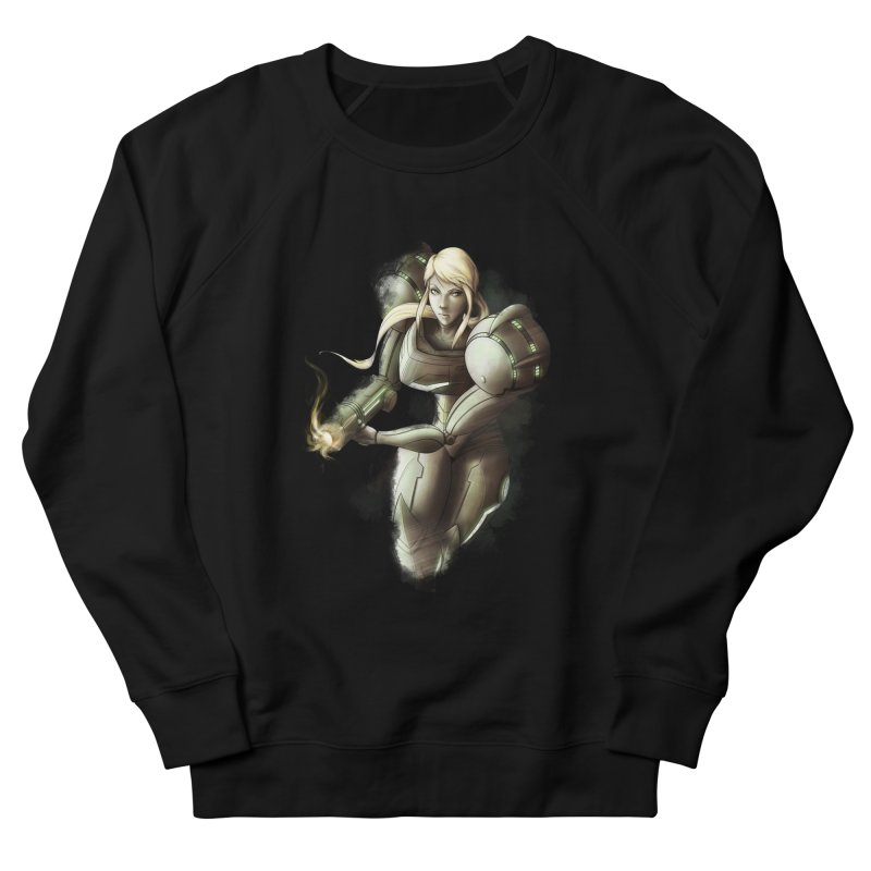 Samus - Battle Mode ON Men's French Terry Sweatshirt by Laurie's Artist Shop