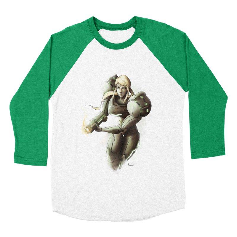 Samus - Battle Mode ON Men's Baseball Triblend T-Shirt by Laurie's Artist Shop
