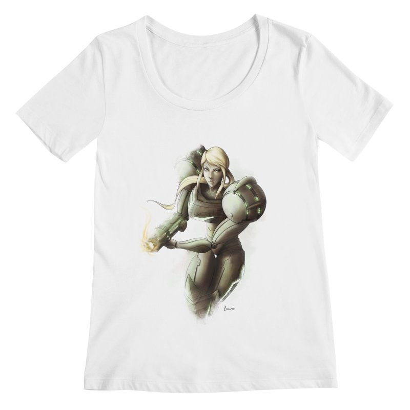 Samus - Battle Mode ON Women's Regular Scoop Neck by Laurie's Artist Shop