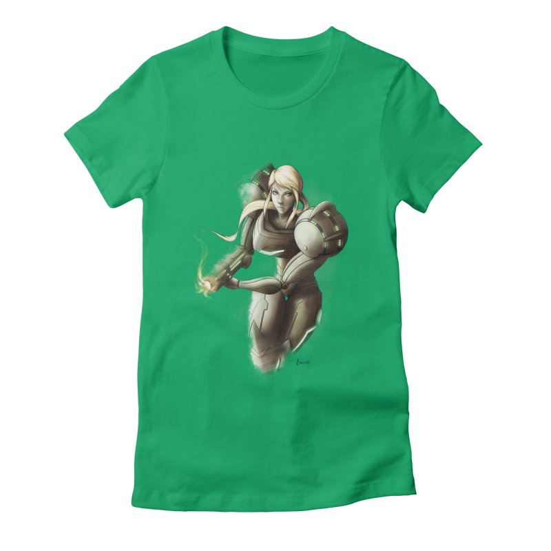 Battle Mode ON Women's Fitted T-Shirt by Laurie's Artist Shop