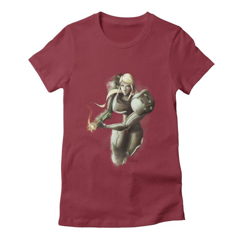 Samus - Battle Mode ON Women's T-Shirt by Laurie's Artist Shop