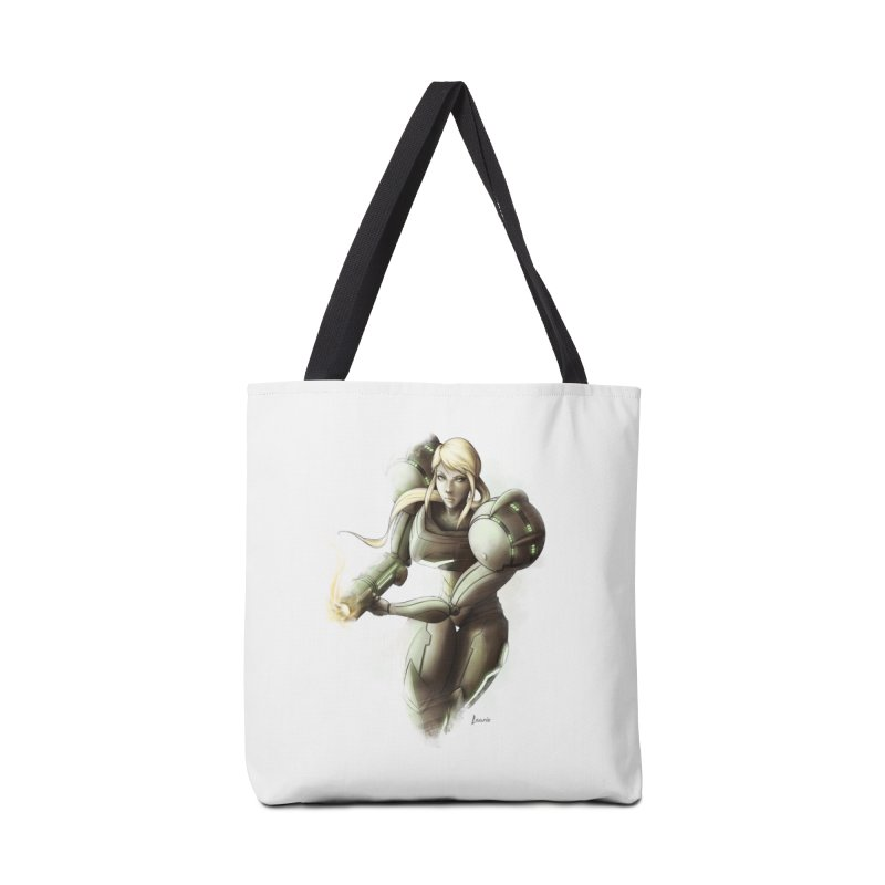 Samus - Battle Mode ON Accessories Tote Bag Bag by Laurie's Artist Shop