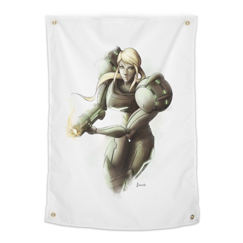 Samus - Battle Mode ON Home Tapestry by Laurie's Artist Shop