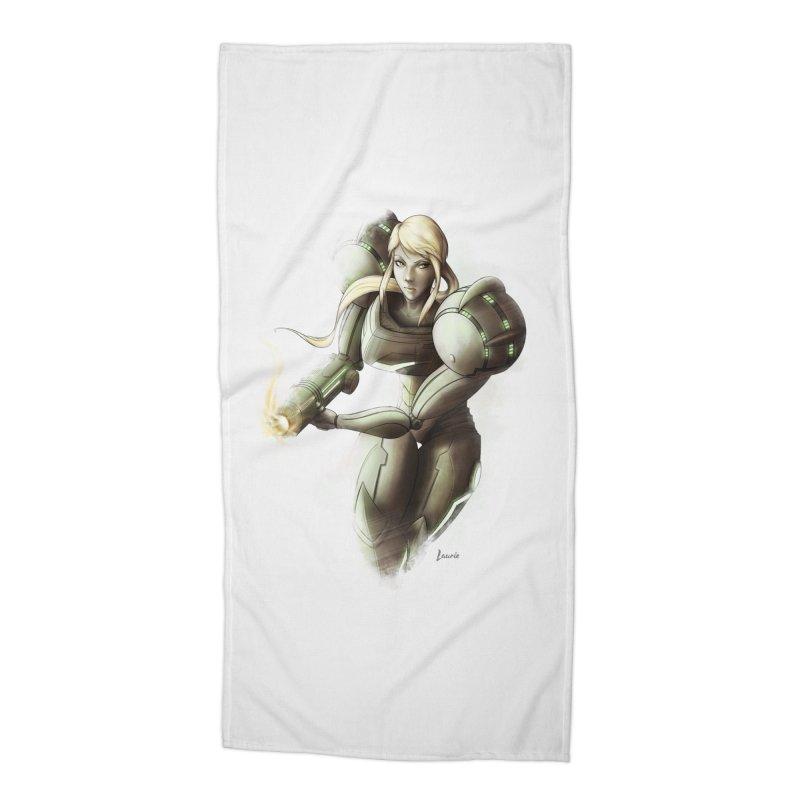 Samus - Battle Mode ON Accessories Beach Towel by Laurie's Artist Shop