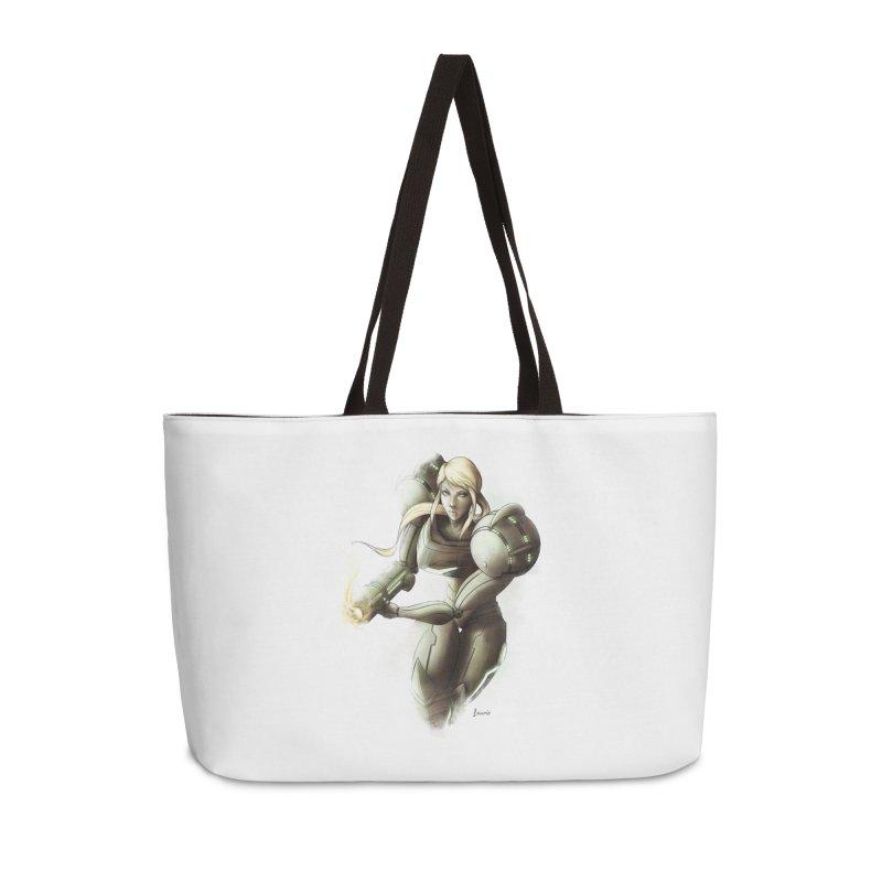 Samus - Battle Mode ON Accessories Weekender Bag Bag by Laurie's Artist Shop