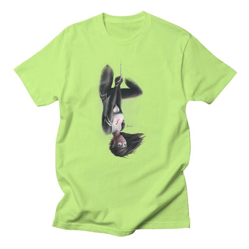 Hanging on Silk Men's Regular T-Shirt by Laurie's Artist Shop