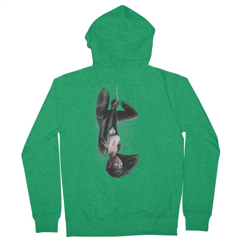 Hanging on Silk Women's Zip-Up Hoody by Laurie's Artist Shop