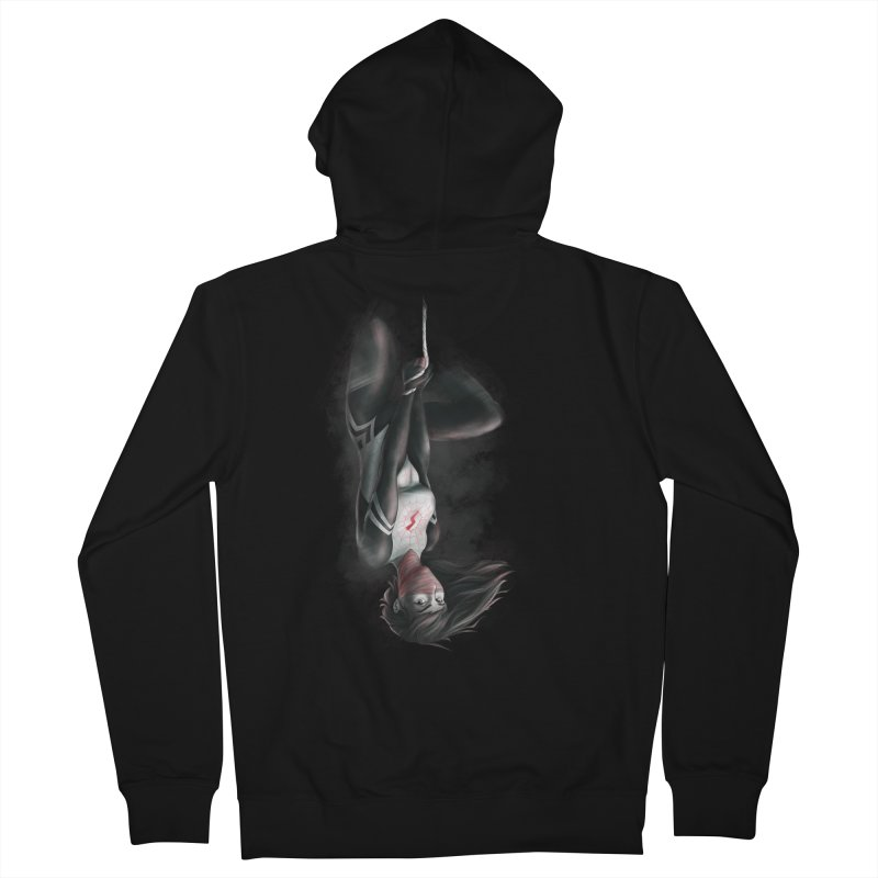 Hanging on Silk Men's French Terry Zip-Up Hoody by Laurie's Artist Shop