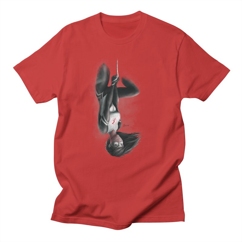 Hanging on Silk Men's T-Shirt by Laurie's Artist Shop
