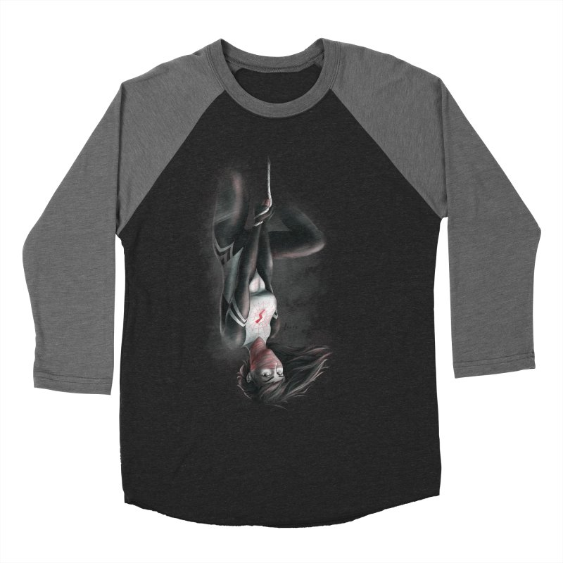 Hanging on Silk Men's Baseball Triblend T-Shirt by Laurie's Artist Shop