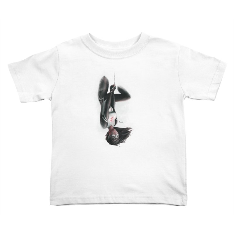 Hanging on Silk Kids Toddler T-Shirt by Laurie's Artist Shop