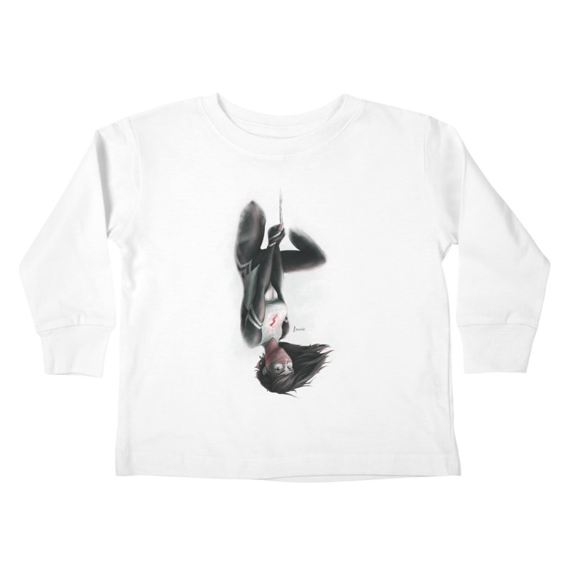 Hanging on Silk Kids Toddler Longsleeve T-Shirt by Laurie's Artist Shop