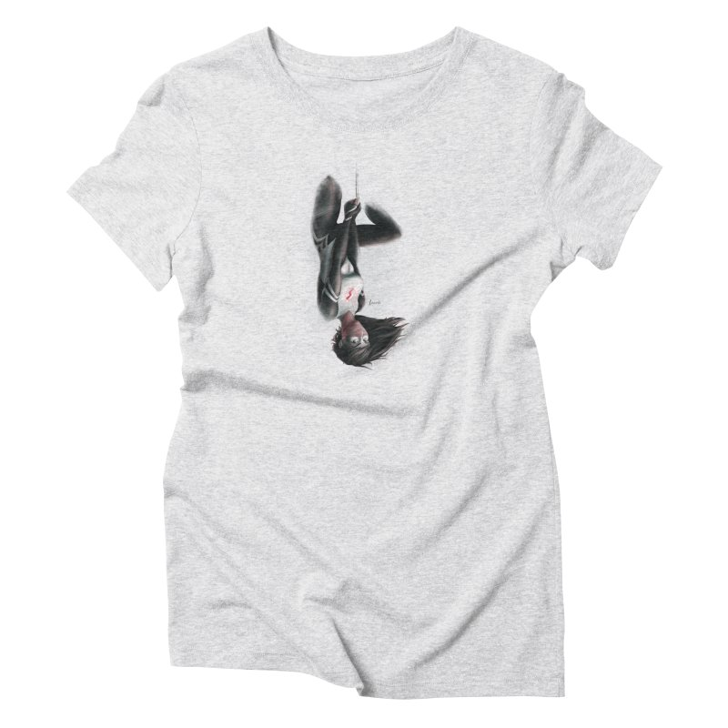 Hanging on Silk Women's T-Shirt by Laurie's Artist Shop
