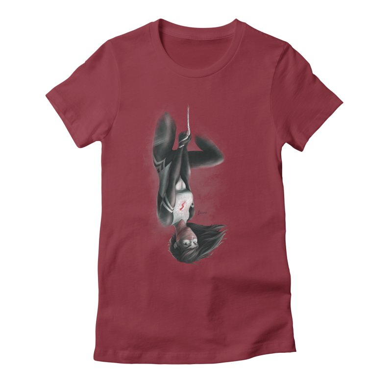 Hanging on Silk Women's Fitted T-Shirt by Laurie's Artist Shop