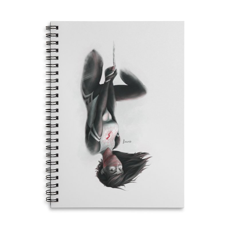 Hanging on Silk Accessories Lined Spiral Notebook by Laurie's Artist Shop