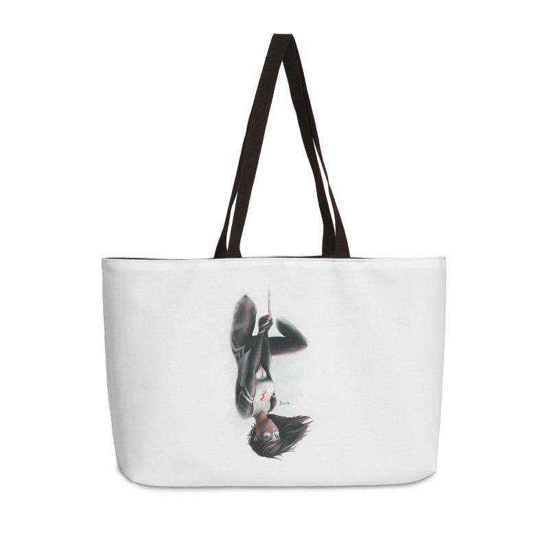Hanging on Silk Accessories Weekender Bag Bag by Laurie's Artist Shop