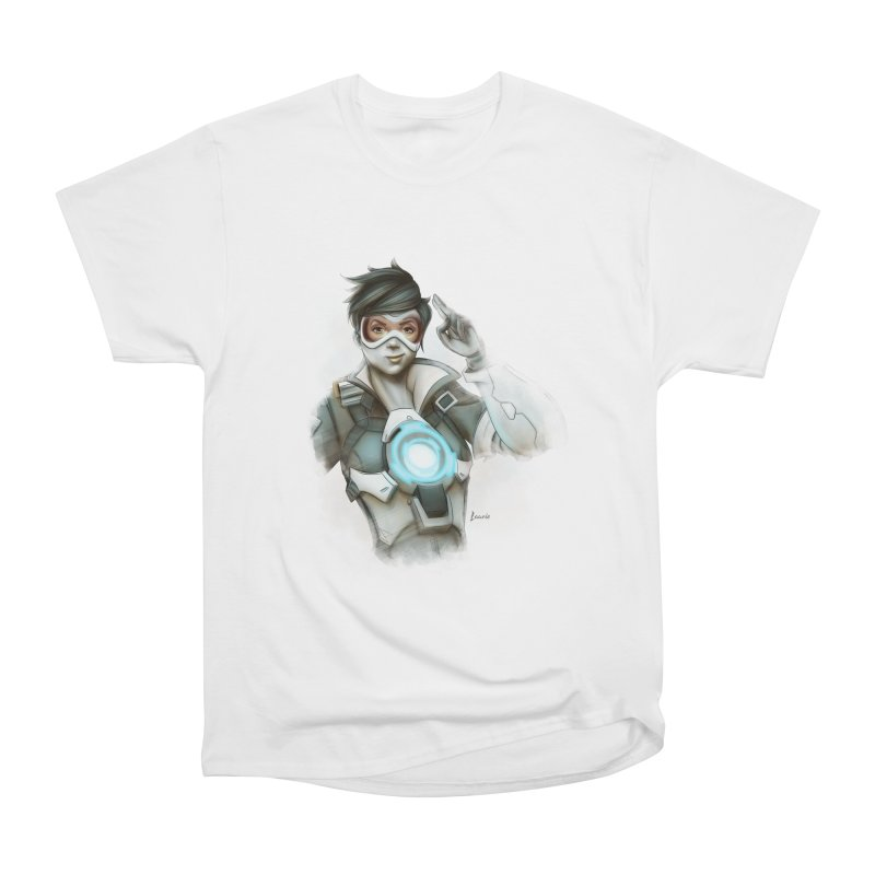 Tracer ready Women's Heavyweight Unisex T-Shirt by Laurie's Artist Shop