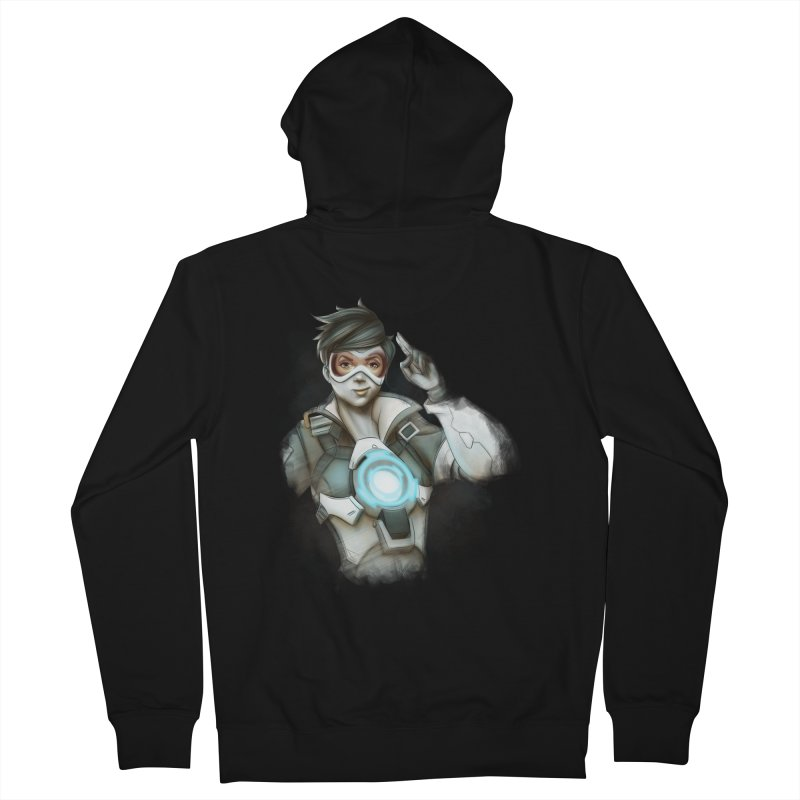 Tracer ready Men's French Terry Zip-Up Hoody by Laurie's Artist Shop