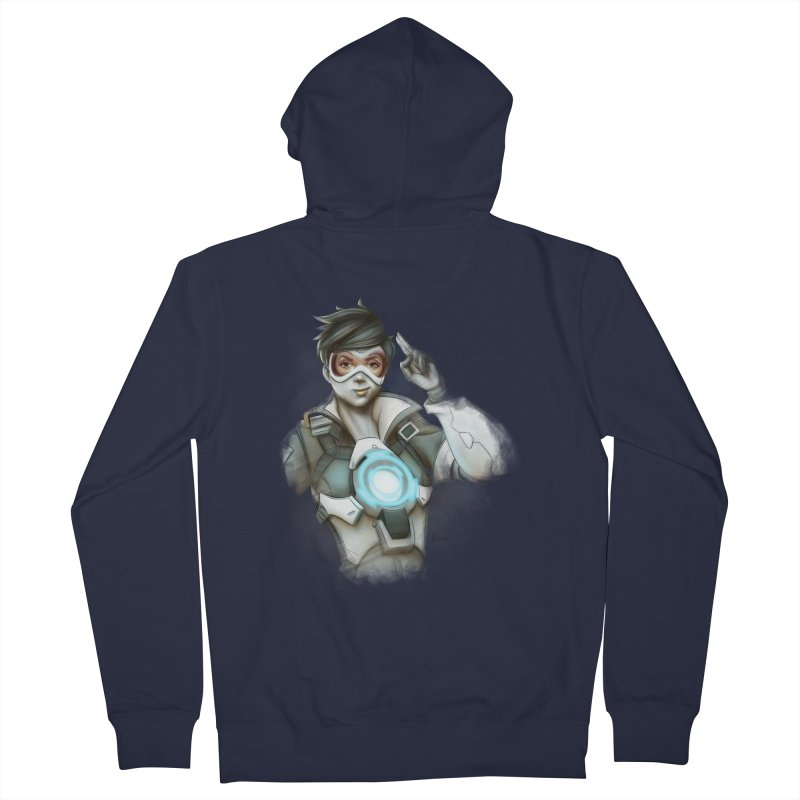Tracer ready Men's Zip-Up Hoody by Laurie's Artist Shop