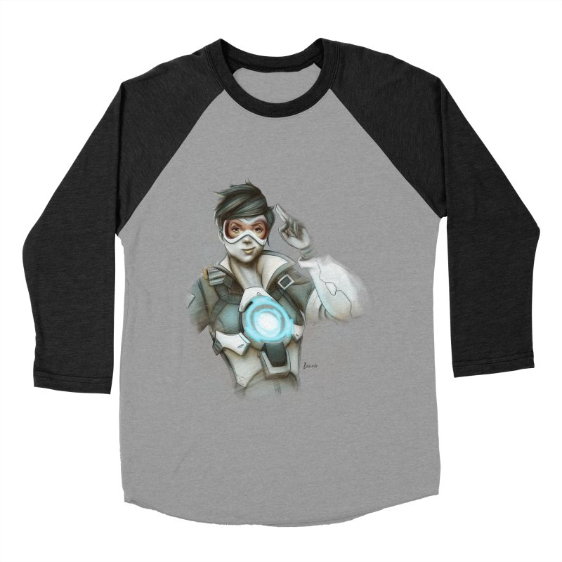 Tracer ready Men's Baseball Triblend T-Shirt by Laurie's Artist Shop