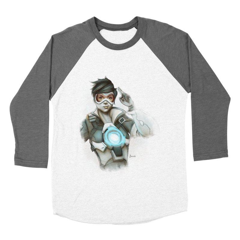 Tracer ready Men's Baseball Triblend Longsleeve T-Shirt by Laurie's Artist Shop