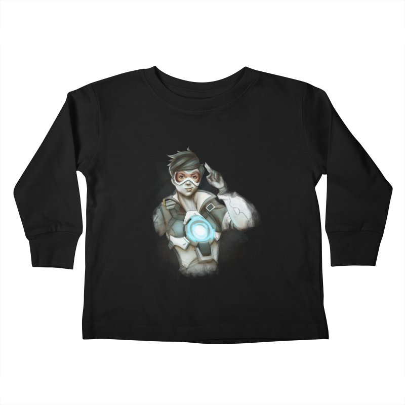 Tracer ready Kids Toddler Longsleeve T-Shirt by Laurie's Artist Shop