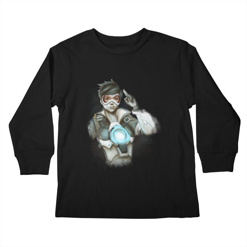 Tracer ready Kids Longsleeve T-Shirt by Laurie's Artist Shop