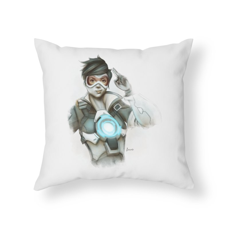 Tracer ready Home Throw Pillow by Laurie's Artist Shop