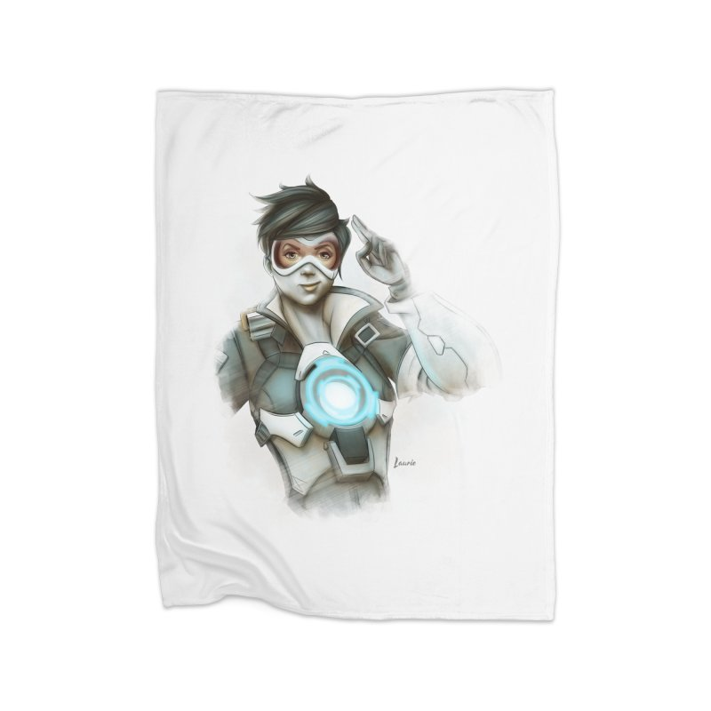 Tracer ready Home Fleece Blanket Blanket by Laurie's Artist Shop