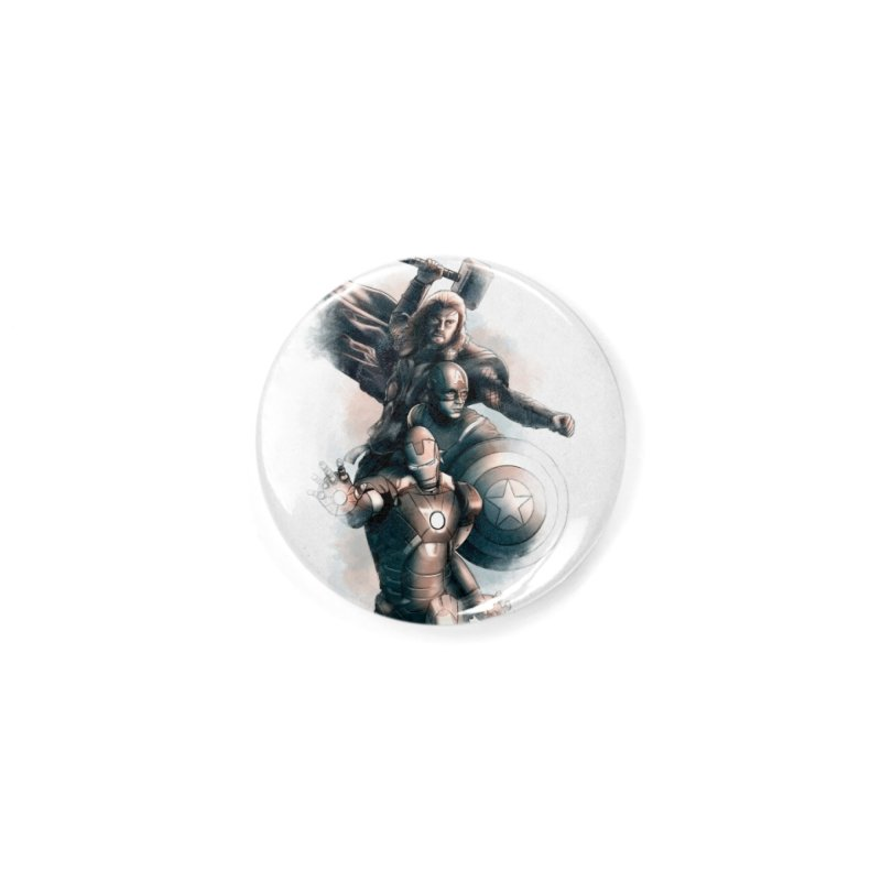 Avengers - First Assemble Accessories Button by Laurie's Artist Shop