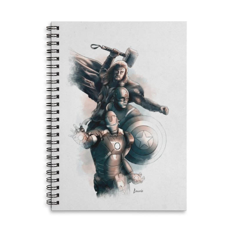 Avengers - First Assemble Accessories Lined Spiral Notebook by Laurie's Artist Shop