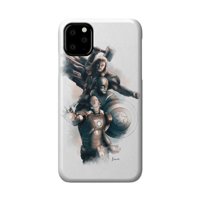 Avengers - First Assemble Accessories Phone Case by Laurie's Artist Shop