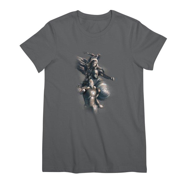 Avengers - First Assemble Women's Premium T-Shirt by Laurie's Artist Shop