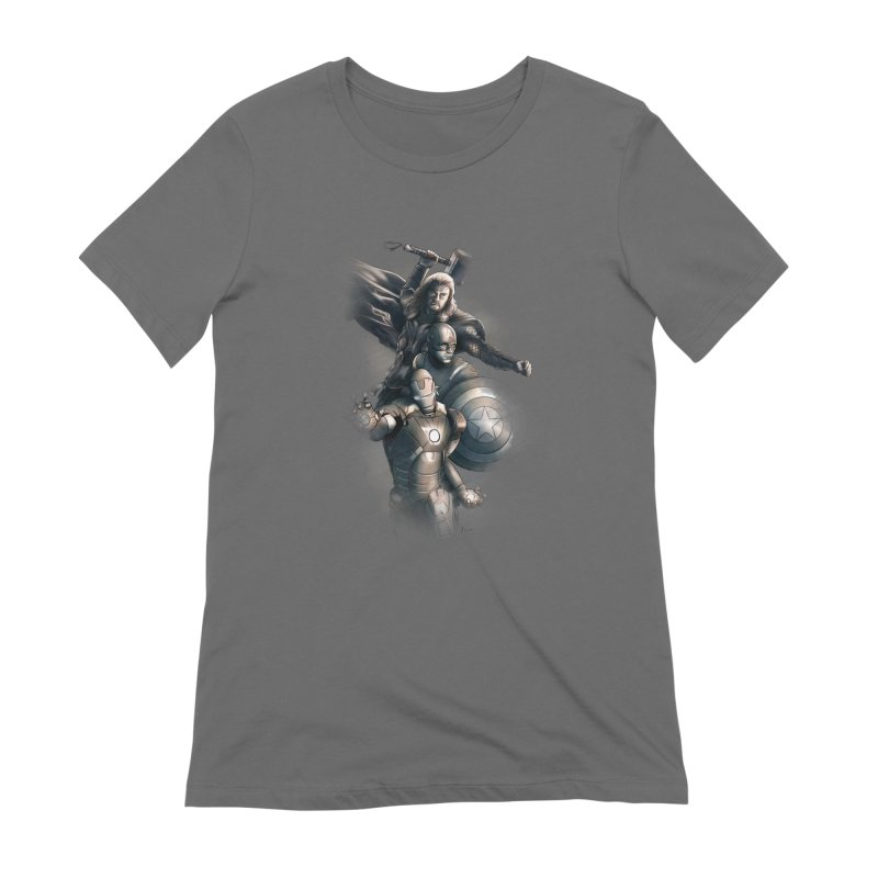 Avengers - First Assemble Women's Extra Soft T-Shirt by Laurie's Artist Shop