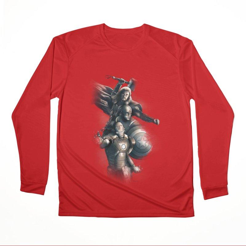 Avengers - First Assemble Men's Performance Longsleeve T-Shirt by Laurie's Artist Shop