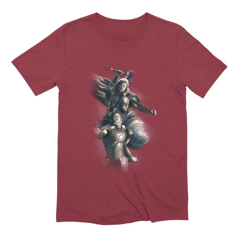 Avengers - First Assemble Men's Extra Soft T-Shirt by Laurie's Artist Shop