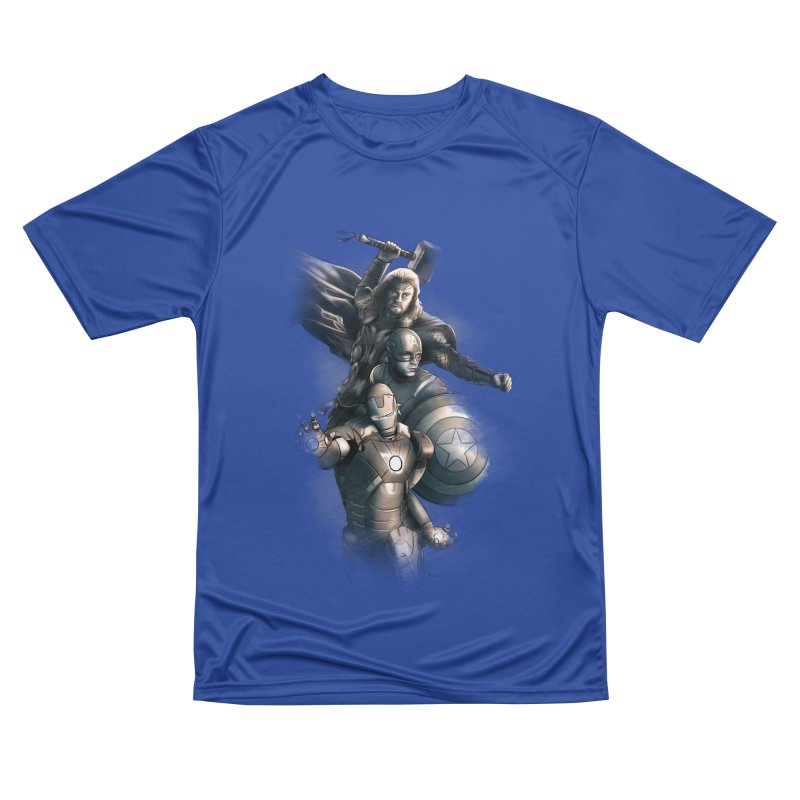 Avengers - First Assemble Women's Performance Unisex T-Shirt by Laurie's Artist Shop