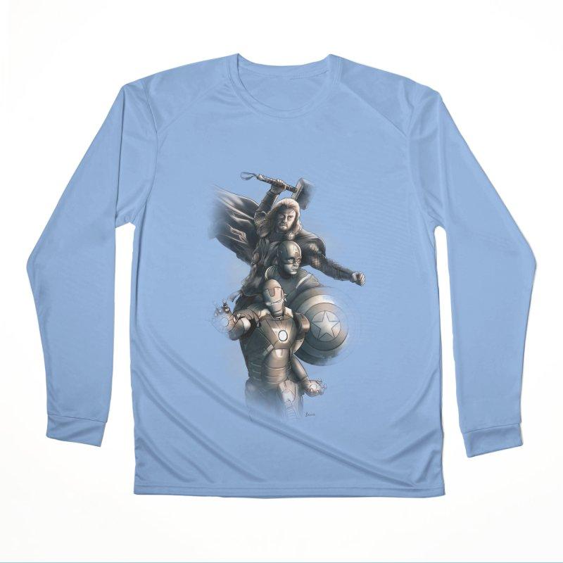 Avengers - First Assemble Women's Performance Unisex Longsleeve T-Shirt by Laurie's Artist Shop